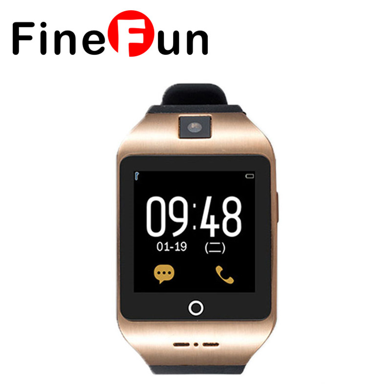 ФОТО FineFun I8S HD Ultra-thin Screen Camera Pedometer Bluetooth 4.0 Smartwatch Support TF SIM Card For Android IOS