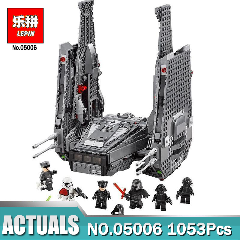 Lepin 05006 1053Pcs Star Wars Series Kylo Ren Command Shuttle lepin Building Blocks Educational Toys Compatible LegoINGlys 75104