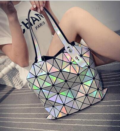 Maelove Hot Sale Women s Bags Hologram Laser Geometric Handbags Multicolor Women Messenger Bags BAO BAO