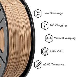 Image 2 - SUNLU Woood fiber 3d printer filament PLA&wood 3d filament 1.75mm 1kg wood fialment with 18%wood fiber & 82% PLA no bubble