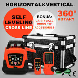 New Elelctronic Self-Leveling Rotary Laser Level kit Horizontal & Vertical Green/Red Laser Level 500M