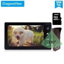 Dragonsview vídeo porteiro sistema de telefone da porta 7 Polegada monitor campainha com câmera detecção movimento grande angular 130 graus registro