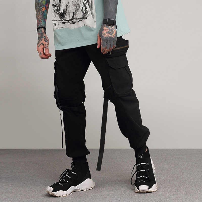Для мужчин Уличная мода хип-хоп Повседневное Штаны мужской Для женщин Cargo Pant Jogger шаровары Высокое Качественный хлопок пот Штаны