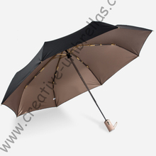 96cm 2-3persons 75T  steel auto open close three fold anti-thunder colour coating umbrella anti-uv windproof parasol