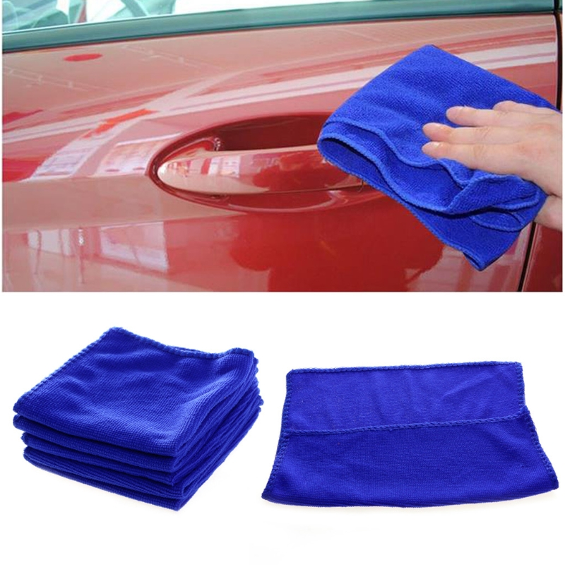 5 Pcs Lot Microfiber Car Cleaning Towel Cloth Kitchen Washing Polish Set Auto Wash Maintenance Car Kit