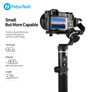 Image 4 - FeiyuTech G6 Plus 3 Axis G6P مثبت انحراف محمول باليد لكاميرا عديمة المرآة GoPro تحميل الهاتف الذكي 800g Feiyu G6P