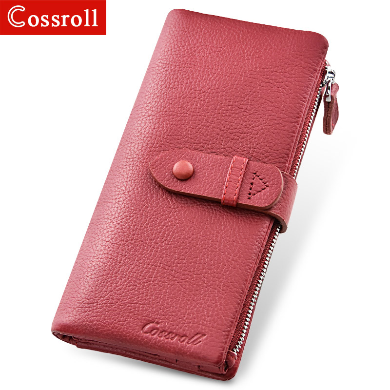 2018 New Genuine Leather Women Clutch Wallets Multiple Cards