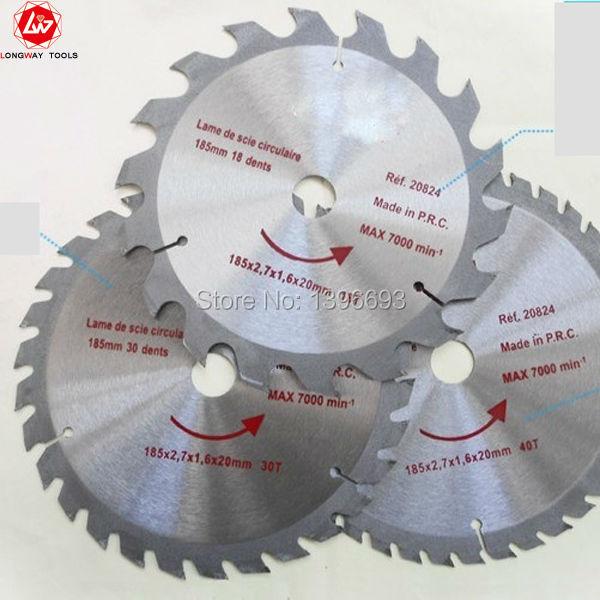 木材、プラスチック切断用の10インチx60歯木TCT丸鋸刃。木工工具は付属品の刃を見た。