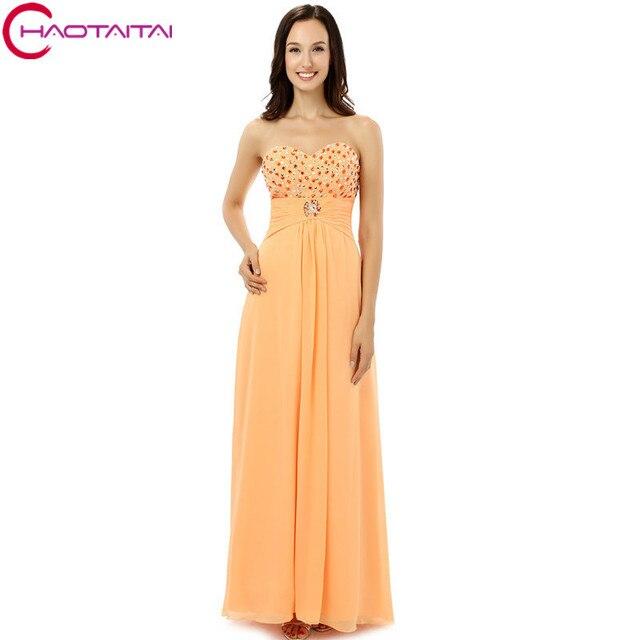 Prom Kleider Lange 2018 Elegante Real Model Orange A Line Chiffon ...