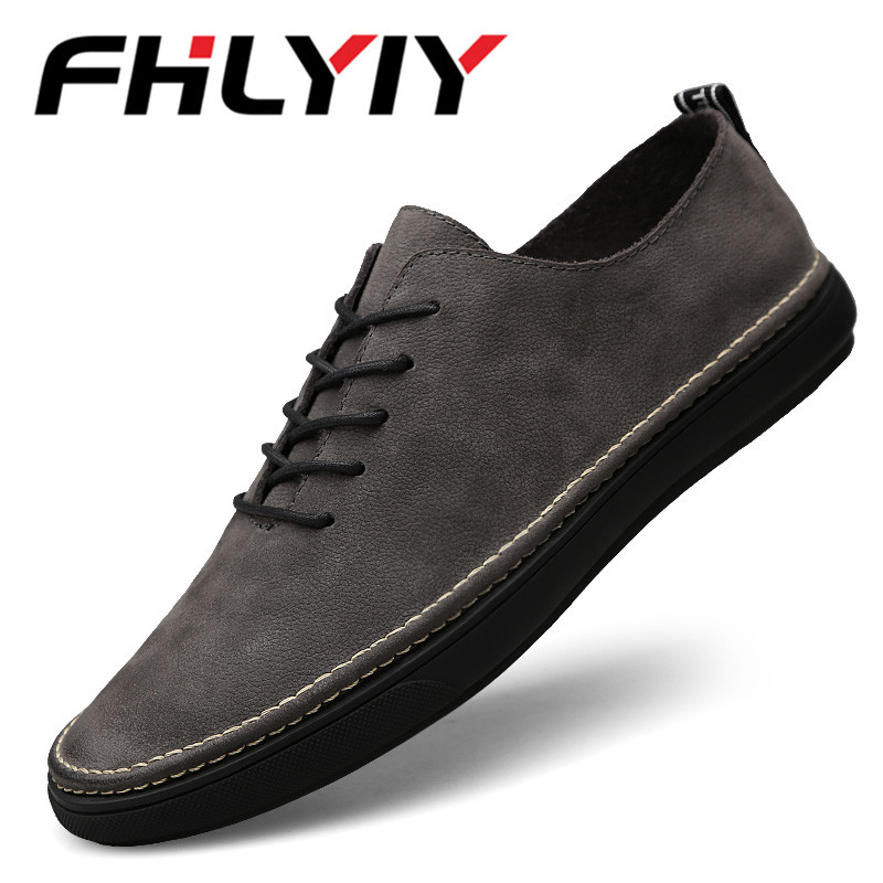 Men Cow Suede Leather Shoes New Oxfords Rubber Fashion Shoes British Style Casual Men Flats Real Slip on High Quality Designer british style men real leather brouge shoes boys new spring zip retro casual shoes craved wing tips flat man oxfords