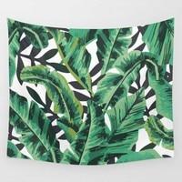 Wall Hanging Tapestry Bohemian Palm Leaf Cactus Blanket Boho Hippie Beach Towel Wall Decorative Carpet Mandala for Living Room