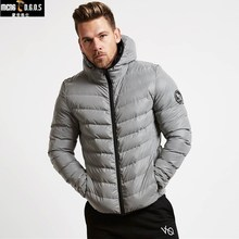 2018 New Winter Mens Jacket Outwear With Artificial Cotton Hooded Collar Casual Patchwork Cotton Padded Hooded Keep Warm Coat