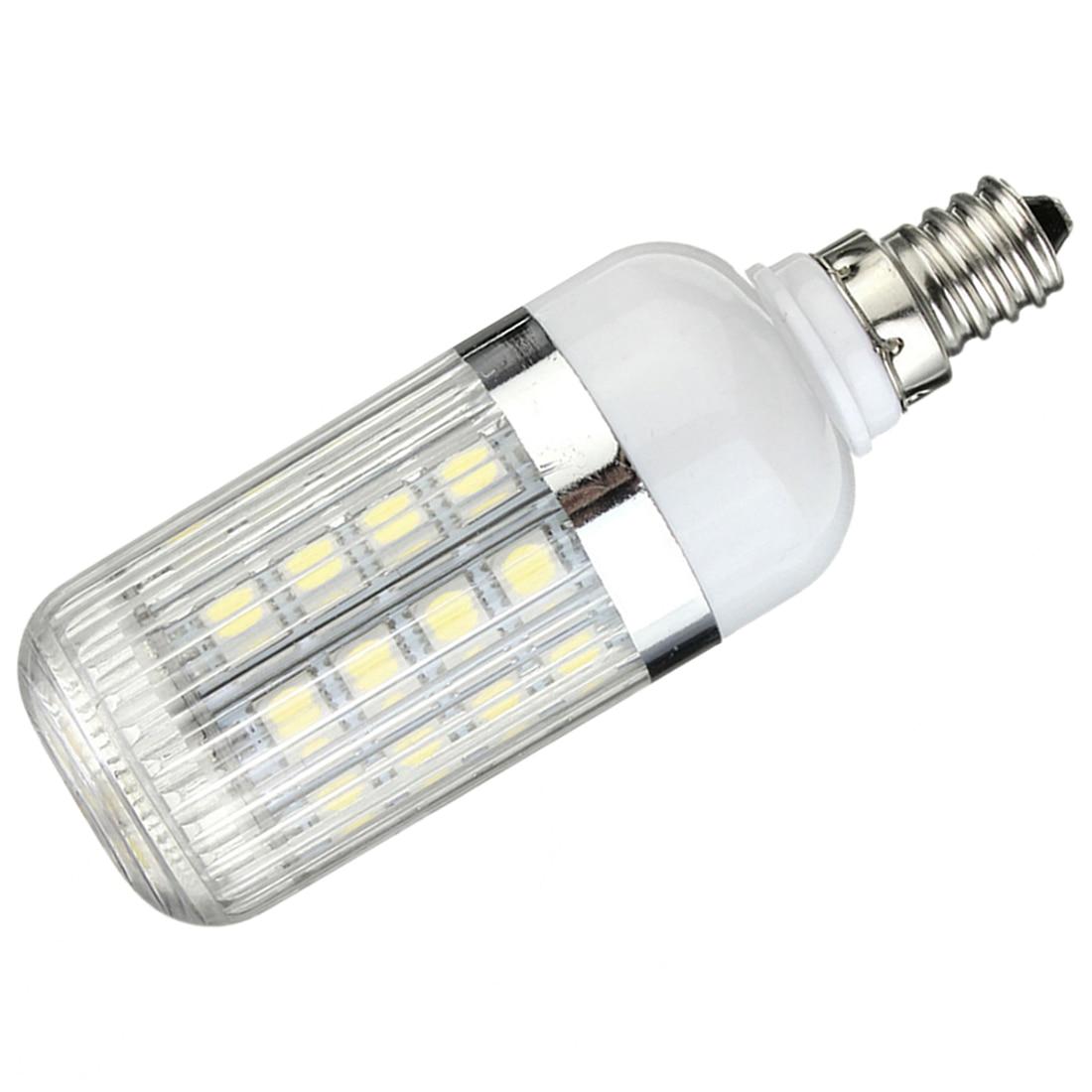 E12 5W Dimmable 36 SMD 5050 LED Corn Light Bulb Lamp Color Temperature:Pure White(6000-6500K) Amount:10 Pcs g9 5w dimmable 27 smd 5050 led corn light bulb lamp color temperature pure white 6000 6500k amount 8 pcs
