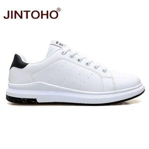 Image 3 - JINTOHO גדול גודל מותג אופנה מקרית עור נעלי גברים עור נעלי עור גברים סניקרס לבן זכר עור נעליים
