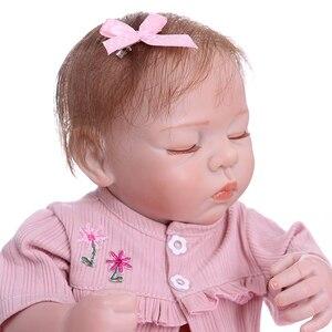 Image 5 - NPK 48 CM nouveau né bebe réaliste reborn doux corps entier silicone réaliste sommeil bébé anatomiquement Correct