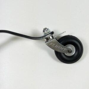 Image 5 - 50cc 100cc RC 비행기 모델에 대 한 PU 바퀴와 탄소 섬유 꼬리 착륙 기어 세트