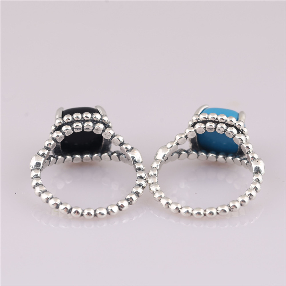 fc4300d80 Mistletoe 100% 925 sterling Silver Vibrant Spirit Ring, Black Blue Crystal  Compatible with European Jewelry-in Rings from Jewelry & Accessories on ...