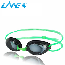 LANE4 Optical Swim Goggle Hydrodynamic Profile Frame Silicone Seals Anti-fog UV Protection for Adults GREEN #2195