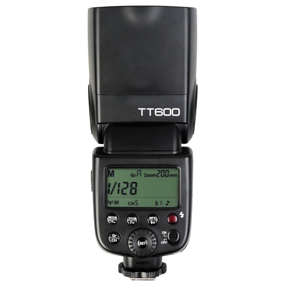 Godox TT600 2.4G Inalámbrico GN60 Maestro//Esclavo Flash Speedlite para cámaras DSLR