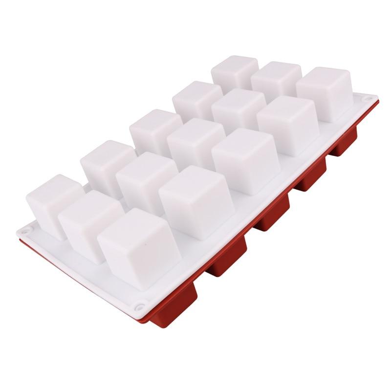 DIY Cake Tool Magic Square Silicone Cake Mold Rubiks Cube Chocolate Mousse Cake Silicone Cake Mould Dessert Baking Tools5