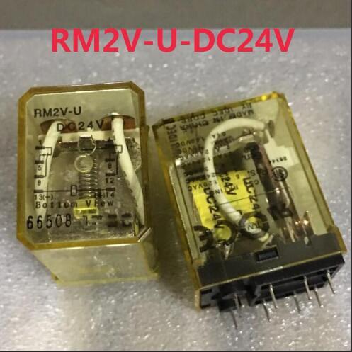 NEW relay RM2V-U DC24V RM2V-U-DC24V 24VDC DC24V 8PIN new cad50bdc dc24v tesys d series contactor control relay 5no 0nc