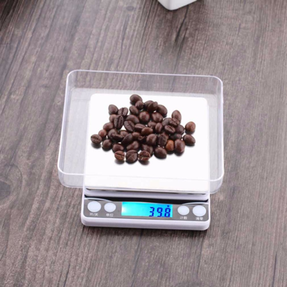 Multifunctional LCD Screen Display Electronic Digital Scale 0.1G/0.01G High Accurate Kitchen Food Jewelry Weight Scales