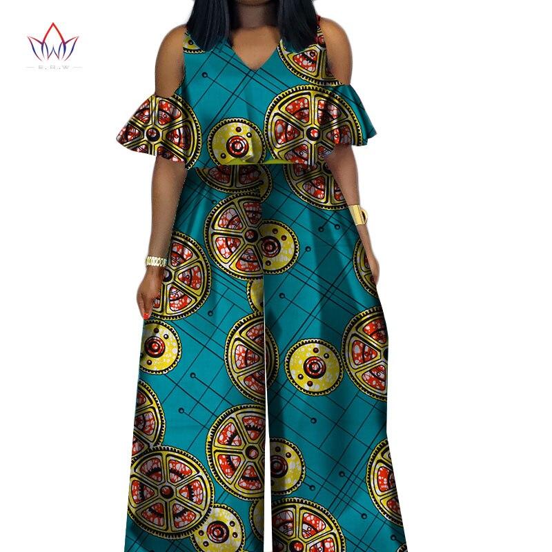 Taille Femmes Combinaison 19 20 6 Impression Riche 3 Sexy Wy059 Pour 18 Dashiki Cire Afrique 1 Élégant 2 Vêtements 9 17 Bazin Grande Barboteuse 7 5 12 23 22 24 21 Coton 2019 8 11 pII5xAr