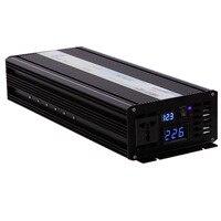 2500 Вт инвертор волна чистый синус солнечный инвертор 12 В 220 В автомобиля Мощность инвертор 12 В/24 В /48 В до 120 В/220 В/240 В постоянного тока для Мощ