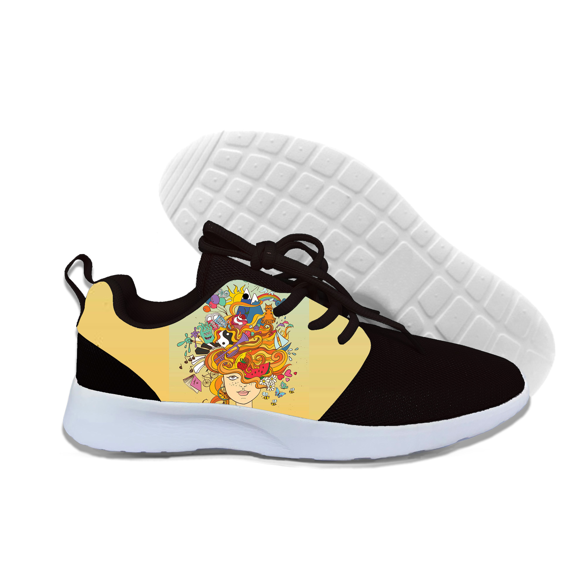 2019 Hot Fashion 3D Shoes For Women/Men Hand painted head Casual Lightweight Sneakers Unisex