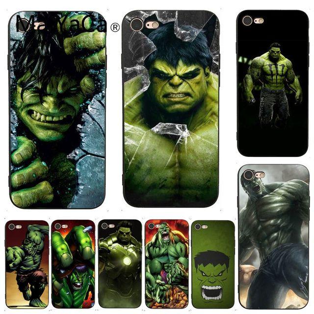 more photos 16aee fccac US $1.17 9% OFF MaiYaCa For iphone 7 6 X Case Marvel Comic Superhero Hulk  Painted Smart Phone Case for iPhone X 8 7 6 6S Plus X 5 5S SE XS XR-in ...