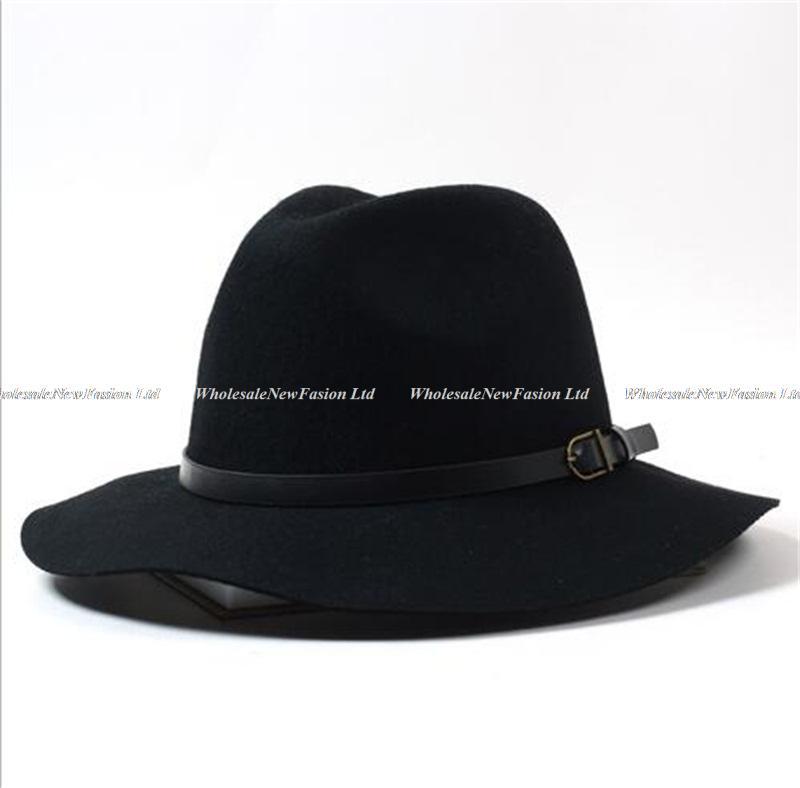 6pcs Lot Fine Mens Floppy Wool Fedora Hat 2017 Ladies Winter Felt Hats  Fashion Women Autumn Trilby Cap Men Spring Fedoras Caps-in Fedoras from  Apparel ... 55fab2946c9