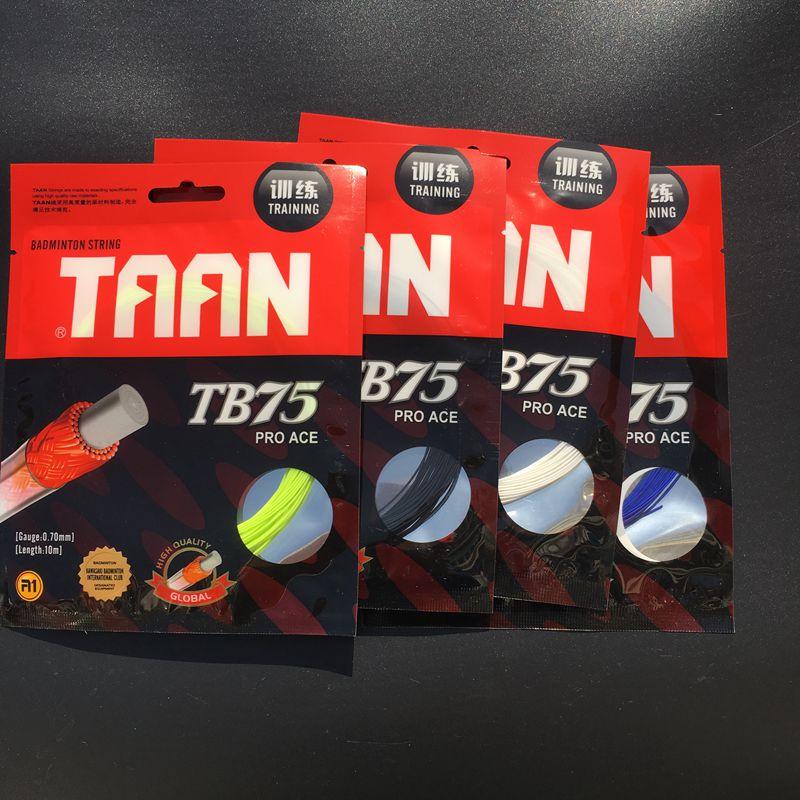 10pcs Free Shipping TAAN TB75 Badminton String 10M 0.70MM Training Badminton Racket String Pro ACE