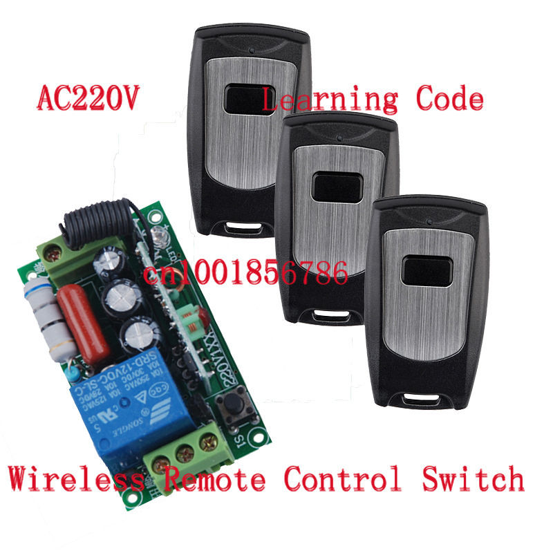220V 1CH 10A Radio Wireless Remote Control light Switch Learning Code With Waterproof Transmitter Output Adjusted цена
