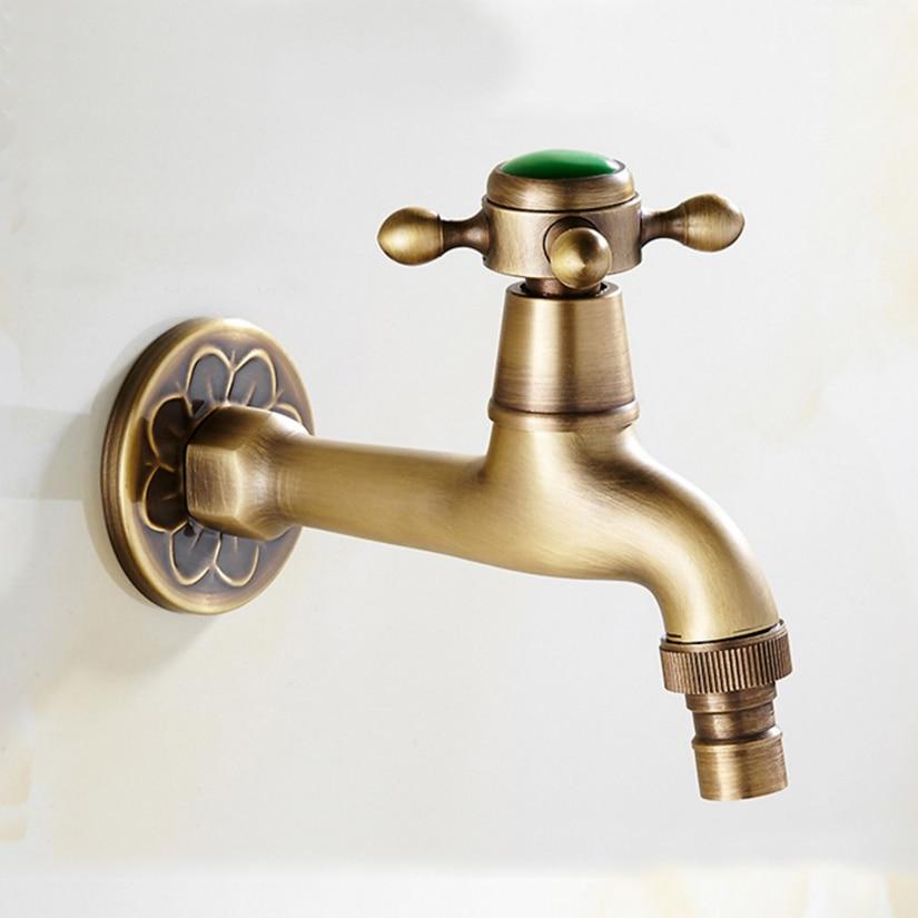High Quality long Antique brass & Jade decorative garden faucets ...