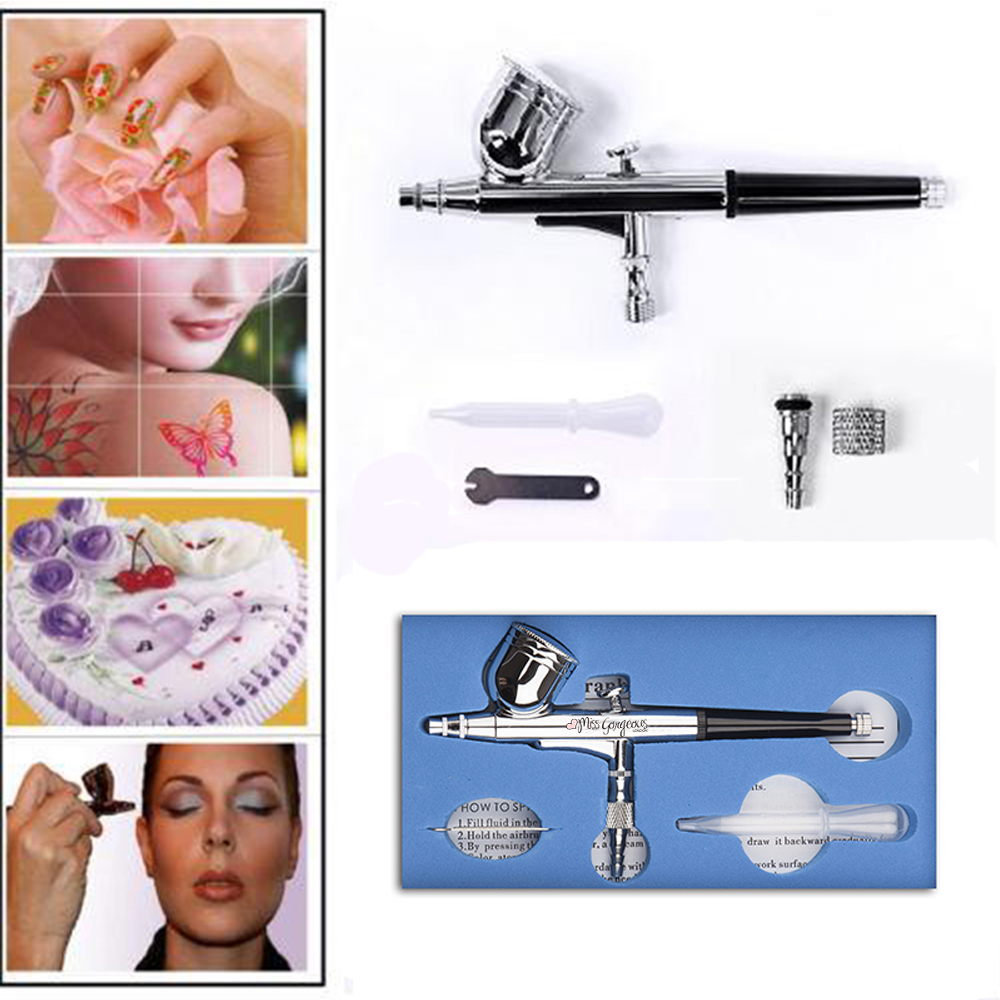 Dual Action Airbrush Kit 0.3mm Needle Air Brush body Paint Spray Gun Car Art Brush Nail Painting Tattoo cake toy  SP130 ophir 0 3mm airbrush kit with mini air compressor single action airbrush gun for cake decorating nail art cosmetics ac002 ac007