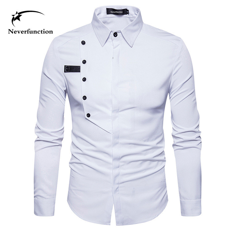 Compare Prices on Mens White Shirt with Black Buttons- Online ...