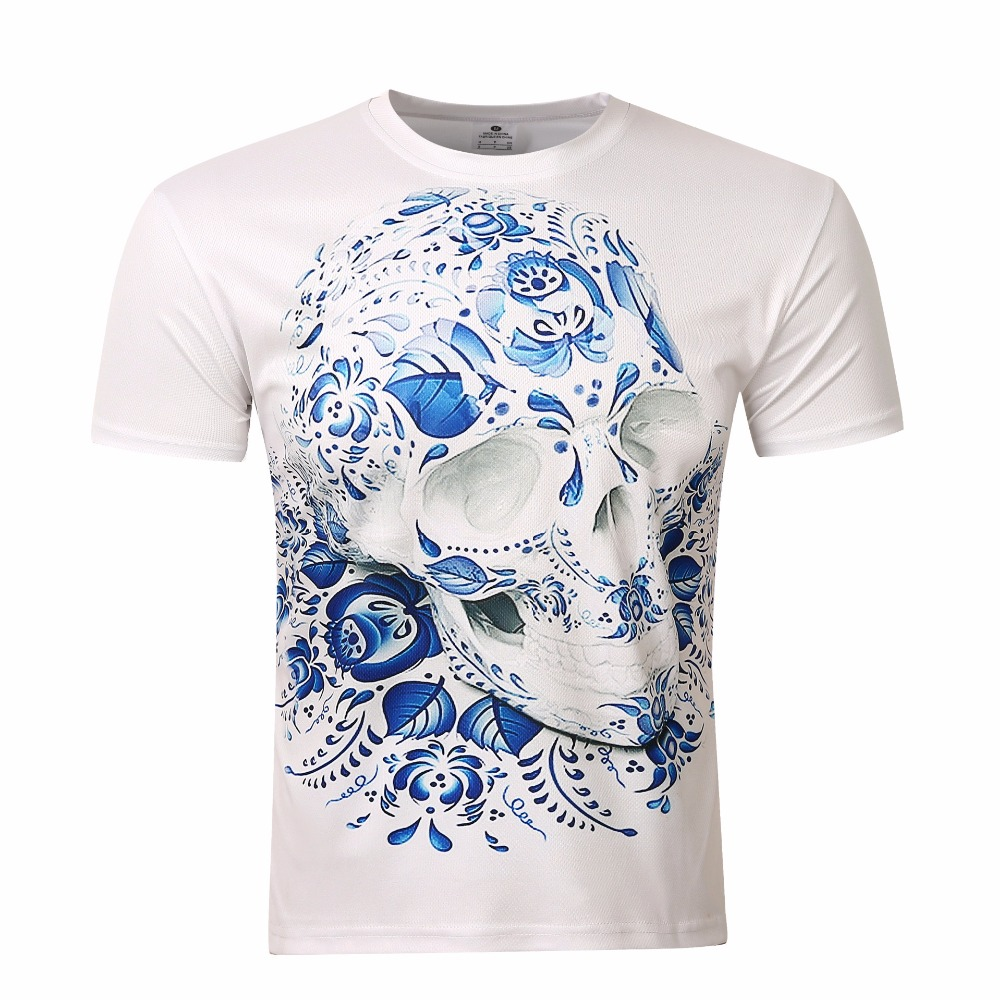 2017 men 39 s shirt 3d printed skulls t shirt vintage men 39 s for Vintage t shirt printing