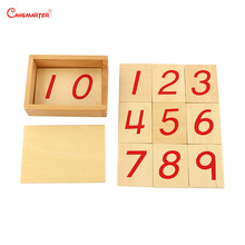 Wooden Teaching Toys Digital Cards 1-10 of Numerical Rods Educational Montessori Materials With Box Toy 6 Years Baby MA004-3
