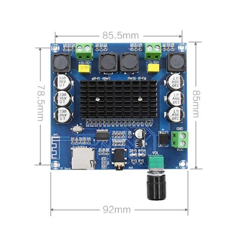 XH-A105 Bluetooth 5.0 TDA7498 Bộ Khuếch Đại Kỹ Thuật Số Ban 2X100 W Âm Thanh Stereo Amp Mô Đun Hỗ Trợ Thẻ TF AUX
