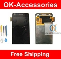 Black Color For Samsung Galaxy R Z I9103 Touch Sceen Digitizer Assembly+LCD Display+Free Tools 1PC/Lot