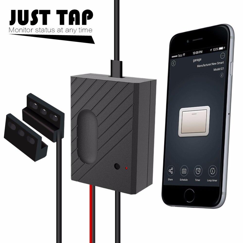 Ouvre-porte de Garage à distance WiFi-contrôle à l'aide de l'application Ewelink, Compatible avec Amazon Alexa, Google Home et IFTTT (GD-DC5)