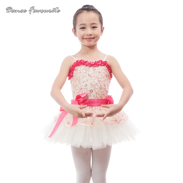 Dance Favourite Embroidered floral and sequin messh top bodice ballet tutu  girl stage performance ballet costume 103a25a0a178