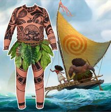 Adult Moana Costume Vaiana Maui Halloween Costumes For Men Women Cosplay Dress Birthday Party Supplies