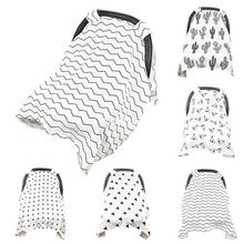 Nursing Cover Breathable Mother Breastfeeding Covers Stroller sun shade Mom Scarf Canopy Cape Baby Stroller Seat  Maternity Pads цена