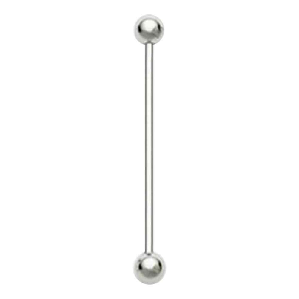 Steel color tongue Studs Ring stainless steel ear Studs barbell tongue Studsl bone Studs human body piercing Jewelry