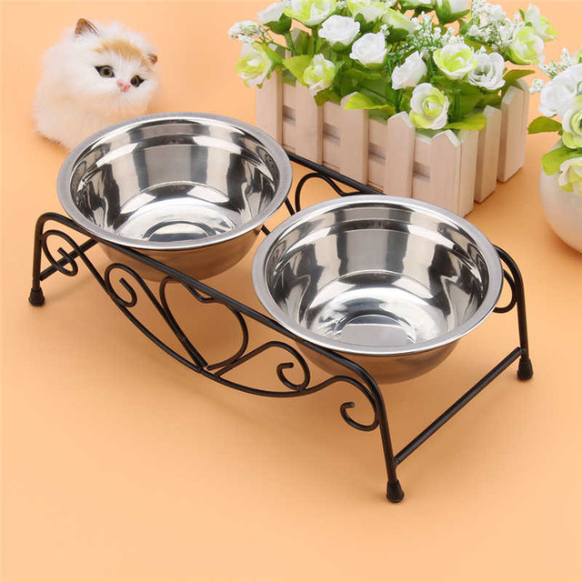 Stainless Steel – Double Water, Food Feeder for Pets