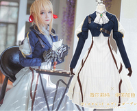 New Anime Violet Evergarden Cosplay Costume Violet Evergarden Fancy Dress Outfit Halloween Adult Costumes for Women S XL