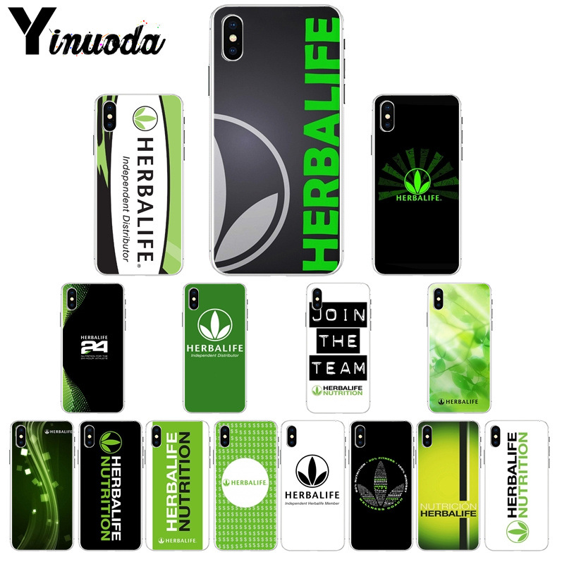 Buy Yinuoda Black and green Herbalife Soft Shell Phone Cover for Apple iPhone 8 7 6 6S Plus X XS MAX 5 5S SE XR Cover for only 1.09 USD