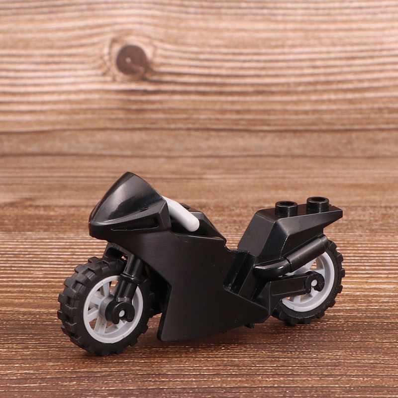 Cross-Country Motor Senjata Brinquedos Kompatibel Playmobil Kota Tokoh Militer Blok Bangunan Bata Asli Mini Mainan Anak