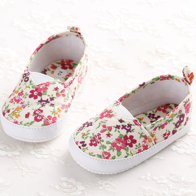 Newest 0 18m sweet newborn baby girls flower shoes toddler for Zapatos para ninas